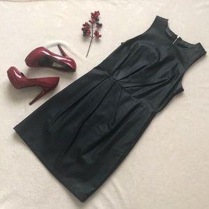 AX faux leather black dress!